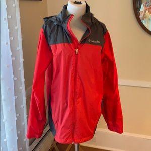 Columbia Waterproof Rain Jacket Men's Small EUC